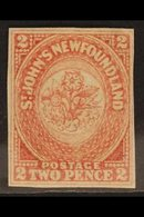 1862 2d Rose Lake, SG 17, Very Fine Mint Og With Good Margins All Round. For More Images, Please Visit Http://www.sandaf - Newfoundland And Labrador