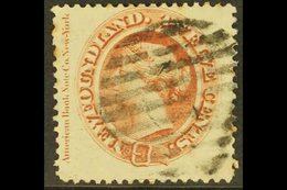 1865-70 12c Red-brown Queen, SG 28, Showing Full American Bank Note Co Imprint At Left, Good Colour And Neatly Cancelled - Newfoundland And Labrador
