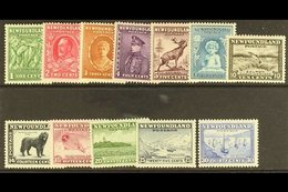 1932 Complete Pictorial Set, SG 209/220, Mainly Fine Mint, The 4c Without Gum. (12 Stamps) For More Images, Please Visit - Newfoundland And Labrador
