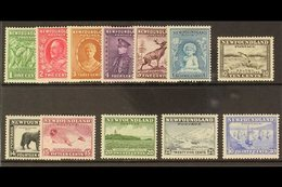1932 Pictorials Set Complete, SG 209/220, Very Fine Mint (12 Stamps) For More Images, Please Visit Http://www.sandafayre - Newfoundland And Labrador