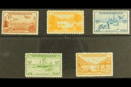 1933 AIR Pictorial Complete Set, SG 230/34, Fine Fresh Mint. (5 Stamps) For More Images, Please Visit Http://www.sandafa - Newfoundland And Labrador