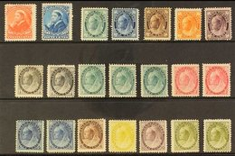 """1893-1902 MINT QUEEN VICTORIA ISSUES An Attractive Group With 1893 20c And 50c """"Widow Head"""", 1897-98 """"Maple Leaf"""" 1c, 5c - Canada"""