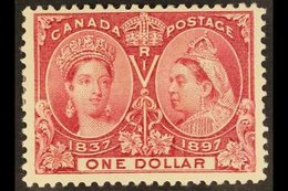 """1897 $1 Lake """"Jubilee"""", SG 136, Unitrade 61, Fine Mint , One Shortish Perf For More Images, Please Visit Http://www.sand - Canada"""