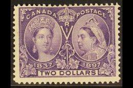 """1897 $2 Deep Violet """"Jubilee"""", SG 137, Unitrade 62, Fine Mint For More Images, Please Visit Http://www.sandafayre.com/i - Canada"""