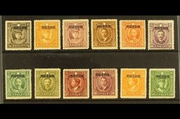 SINKIANG 1933-34 Martyrs Set Opt'd At Peking, SG 121/32, Very Fine Mint (12 Stamps) For More Images, Please Visit Http:/ - China