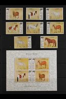 1973 Paintings Of Horses Complete Set And Miniature Sheet, SG 966/73 & MS974, Never Hinged Mint. (8 Stamps Plus Min Shee - Unclassified