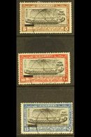"""1926 """"PORT FOUAD"""" Overprints On 5m, 10m & 15m Values, SG 141/144, Very Fine Used. Very Scarce (3 Stamps) For More Images - Egypt"""