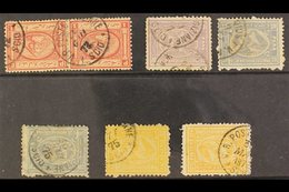 USED ABROAD : SCIO (GREEK ISLAND) Clear To Fine Strikes Of Cds On 1867-71 1pi. Pair, 1872-75 10pa, 20pa (2), 2pi. (2), S - Egypt