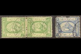 USED ABROAD : GALIPOLI (TURKEY) 1872 Fine Cds Strike On 20pa Pair, And Part Strike On 2pi (faults). (3 Stamps) For More  - Egypt
