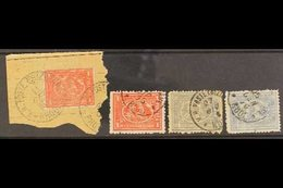 USED ABROAD : RODI (GREEK ISLAND) Clear To Good Strikes On 1872-75 20pa (2) And 1pi (2), Scarce Group. (4 Stamps) For Mo - Egypt