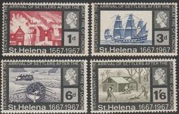 ST HELENA 1967 - SG 214-217 - 300TH ANNIV OF ARRIVAL OF SETTLERS - MNH - Saint Helena Island