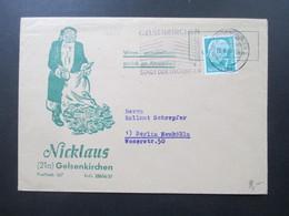 Firmenumschlag 1959 Weihnachtsmann / Weihnachtslotterie Nicklaus Gelsenkirchen Weihnachtsmann Mit Sack Voll Geld - Weihnachten