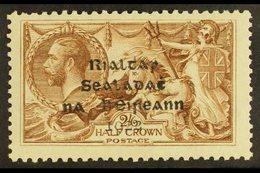 1922 2s6d Sepia-brown Dollard Overprint NISSEN RE-ENTRY (position R. 1/3 Plate 2/4 R), Hibernian T12a, Fine Mint, A Few  - Ireland