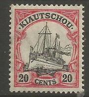 Kiauchau - 1906 Kaiser's Yacht 20c Used    Sc 37 - Colony: Kiauchau