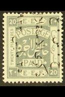 1923 20p Independence Commem, Ovptd In Black Reading Upwards, SG 108B, Very Fine Mint. For More Images, Please Visit Htt - Jordan