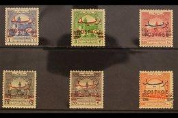 "1955 Obligatory Tax Stamps Overprinted ""FILS"" For Ordinary Postal Use Set, SG 402/407, Never Hinged Mint (6 Stamps) For  - Jordan"