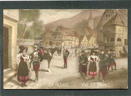 CPA - EN ALSACE - VIVE LA FRANCE ! - Guerre 1914-18