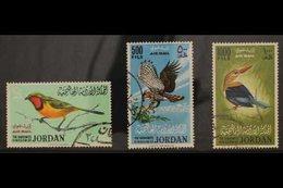 1964 BIRDS Air Set, SG 627/629, Very Fine Used (3 Stamps) For More Images, Please Visit Http://www.sandafayre.com/itemde - Jordan