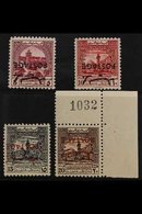 OBLIGATORY TAX 1953-56 INVERTED OPT GROUP Including 5f Claret (SG 408b), 10f Carmine Red (SG 409b), 15f Black (SG 410a)  - Jordan