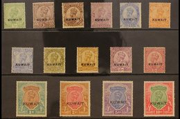 1923-24 KGV (wmk Single Star) Complete Set, SG 1/15, Very Fine Lightly Hinged Mint. (15 Stamps) For More Images, Please  - Kuwait