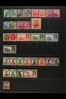 1929-1945 FINE USED COLLECTION On A Stock Page, All Different, Inc 1929-37 Most Vals To 4a, 8a, 12a & 2r, 1939 Set (ex 4 - Kuwait