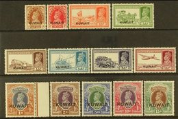 1939 KGVI India Overprinted Definitive Set, SG 36/51, Fine Mint (13 Stamps). For More Images, Please Visit Http://www.sa - Kuwait