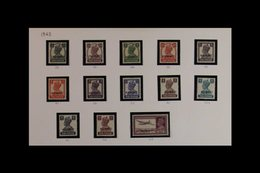 1945 - 1957 COMPLETE MINT COLLECTION Mint/never Hinged Basic Basic Mint Collection With 1945 Ovpts On India, 1948 Geo VI - Kuwait