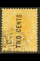 1883 2c On 8c Orange, Narrow Letters, SG 57, Fine Used. For More Images, Please Visit Http://www.sandafayre.com/itemdeta - Straits Settlements