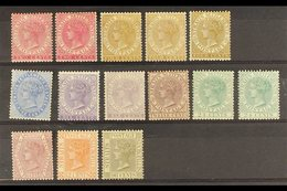 """1883-91 """"CA"""" Set Of Nine, SG 63/71, Plus Additional Listed Shades Of 2c, 4c (2), 6c And 24c, Mainly Fine Mint, The 12c A - Straits Settlements"""