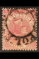 1883-91 2c Bright Rose WATERMARK INVERTED Variety, SG 63aw, Fine Used, Scarce. For More Images, Please Visit Http://www. - Straits Settlements