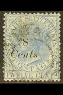 1884 8c On 12c Blue, SG 74, Finely Used. For More Images, Please Visit Http://www.sandafayre.com/itemdetails.aspx?s=6304 - Straits Settlements