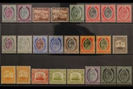 1903-14 KEVII MINT COLLECTION Presented On A Stock Card That Includes 1903-04 CA Wmk 2d & 3d, 1904-14 Set To Both Colour - Malta (...-1964)