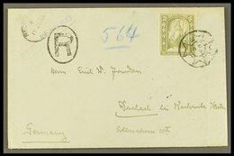 1914 (17 June) Env Registered To Germany Bearing The 2s6d Olive- Grey (SG 34) Tied Maltese Cross Type Circular Handstamp - Malta (...-1964)