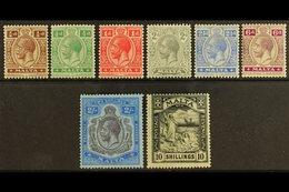 1921-22 Complete Definitive Set, SG 97/104, Fine Mint (8 Stamps) For More Images, Please Visit Http://www.sandafayre.com - Malta (...-1964)