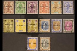 """1926 """"POSTAGE"""" Overprints Complete Set, SG 143/56, Fine Mint, Some Stamps Are Never Hinged Incl 4d & 2s, Very Fresh. (14 - Malta (...-1964)"""