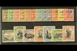 "1928 Definitives Complete Set Ovptd ""Postage And Revenue"" SG.174/92, Very Fine Mint (19). For More Images, Please Visit  - Malta (...-1964)"