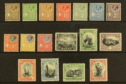"""1930 Inscribed """"Postage & Revenue"""" Complete Definitive Set, SG 193/209, Fine Mint. (17 Stamps) For More Images, Please V - Malta (...-1964)"""