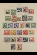 1938-48 FINE USED SELECTION Useful Group With Varieties Including 1938 Set Incl 2d Scarlet With Flag And Extra Window Va - Malta (...-1964)