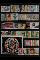 1991-2003 NEVER HINGED MINT ALL DIFFERENT Fine Accumulation Of Complete Sets And Miniature Sheets From 1991 Philatelic S - Malta (...-1964)