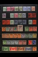 1898-1955 USED COLLECTION Presented On A Set Of Stock Pages. Includes Gibraltar Opt'd 1898-1900 To 50c, 1899 To 25c, KEV - Morocco (1891-1956)
