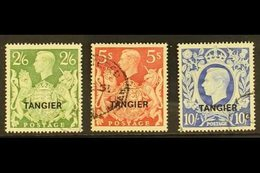 TANGIER 1949 2s6d, 5s & 10s KGVI GB Ovpts, Top Three Values, SG 273/5, Very Fine Used (3 Stamps). For More Images, Pleas - Morocco (1891-1956)