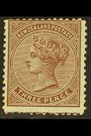 1874 3d Brown On Blued Paper, Perf 12½, SG 168, Mint Large Part Og., For More Images, Please Visit Http://www.sandafayre - Unclassified