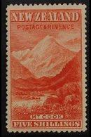 "1898 5s Vermillion ""Mount Cook"", No Wmk, Perf 14½, SG 259, Very Fine Mint For More Images, Please Visit Http://www.sanda - Unclassified"