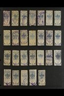 REVENUE STAMPS- UNITED STATES ADMINISTRATION Late 1890's/ Early 1900's Collection On Album Pages. With Strong GIRO In M - Philippines