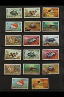1965-86 NEVER HINGED MINT COLLECTION ALL DIFFERENT, Includes 1965 ITU & Fish Defins Sets, 1966 Games, Space Rendezvous  - Qatar