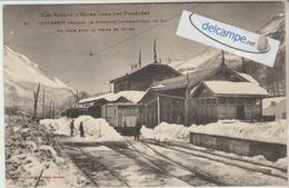 CAUTERETS : Concours International De SKIS,la Gare Sous La Neige,Train. Phot Labouche. - Cauterets