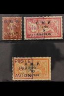 1921 Airmail Surcharge Set Complete, SG 78/80, Fine Mint. All Signed. (3 Stamps) For More Images, Please Visit Http://ww - Syria