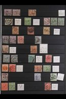 PERFINS 1860's-1940's Interesting Collection Of Used Stamps With Various Private COMMERCIAL PERFINS Arranged In Alphabet - Great Britain