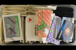 TELEPHONE CARD ACCUMULATION 1980's & 1990's Used & Used Hoard, Many Still In Original Packing, Includes Landis & Gyr Typ - Great Britain