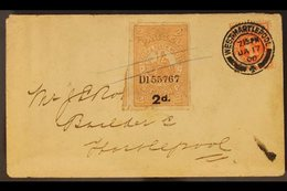 1900 (17 Jan) Cover Bearing QV ½d Vermilion Tied By West Hartlepool Cds; Alongside London & North Western Railway Compan - Great Britain